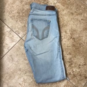 low rise ripped hollister jeans